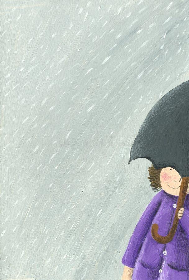 дождь малыша бесплатная иллюстрация