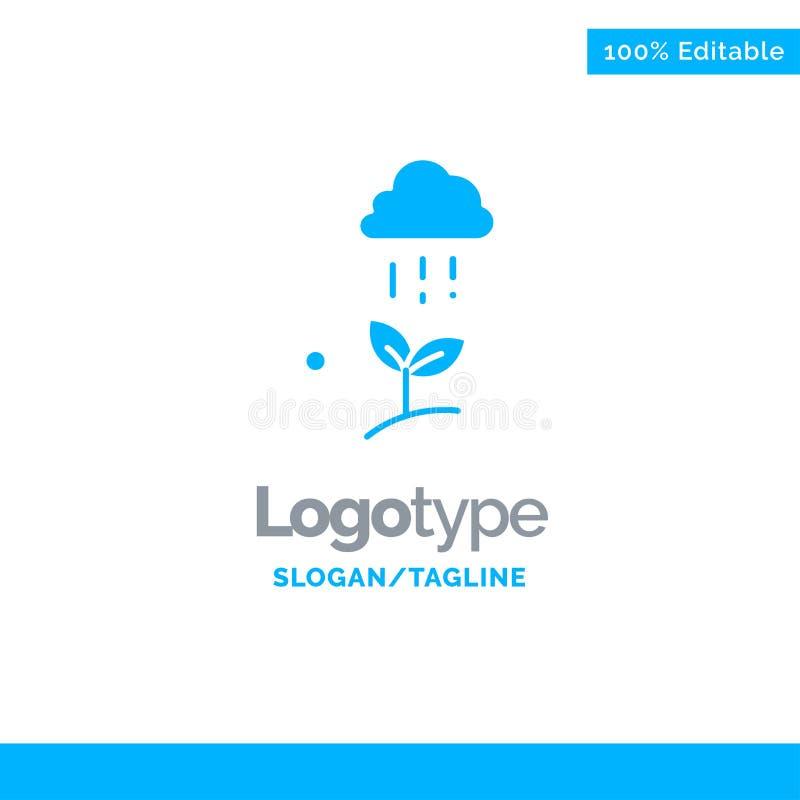 Дождь облака, облако, природа, весна, шаблон логотипа дождя голубой твердый r иллюстрация штока