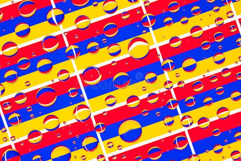 Дождь падает вполне армянских флагов иллюстрация штока