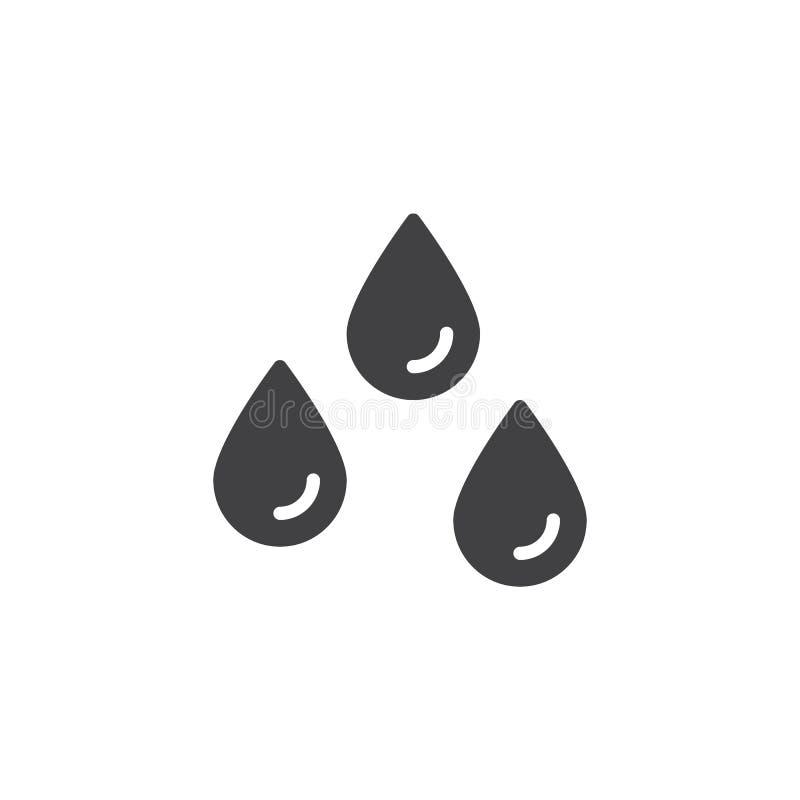 Дождь падает значок вектора иллюстрация вектора