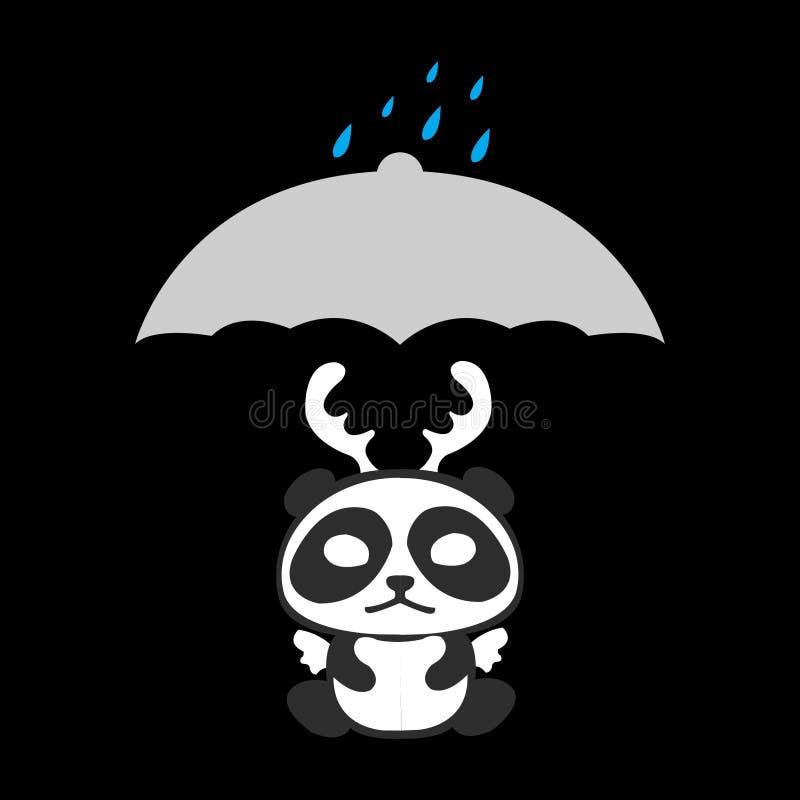 Дождь тоскливости иллюстрация вектора