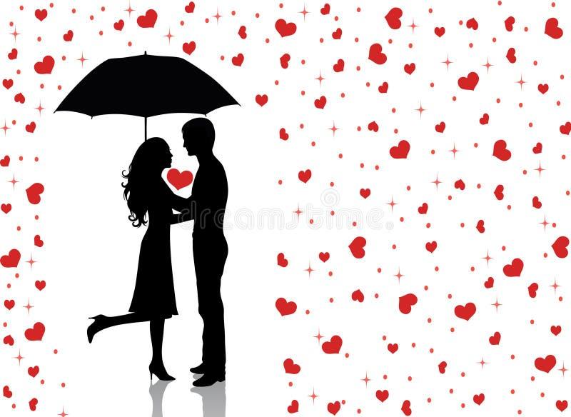 дождь love2 иллюстрация вектора