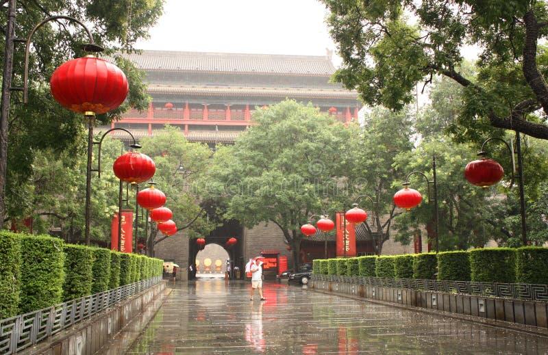 дождь xian фарфора стоковые изображения rf