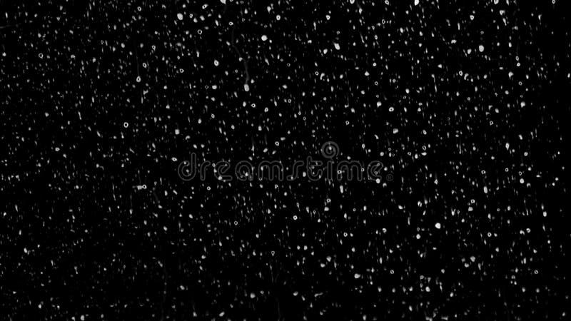 Дождевые капли белой воды падая вниз на стекло Улучшите для цифровой составлять стоковое изображение