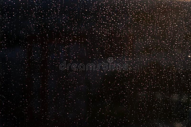 Дождевые капли на конце окна вверх стоковые фото