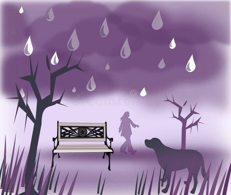 Дождливые дни бесплатная иллюстрация