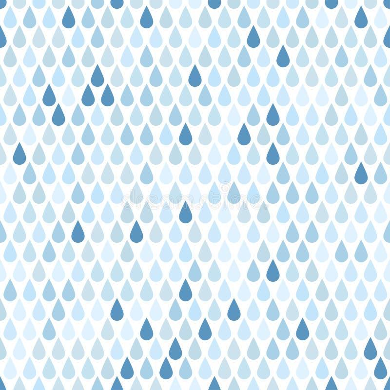 Дождь. Безшовная предпосылка. иллюстрация штока