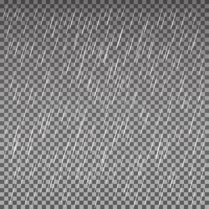 Дождь изолированный на прозрачной предпосылке самый лучший оригинал download печатает готовую текстуру для того чтобы vector Иллю бесплатная иллюстрация