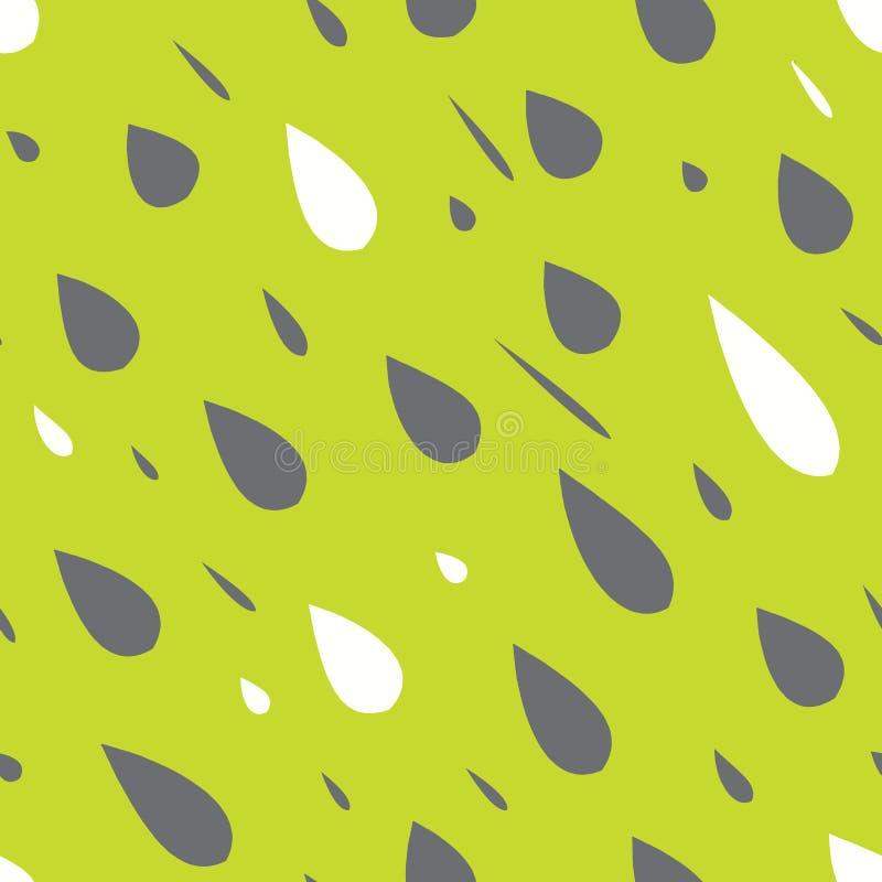 Дождь падает безшовная картина бесплатная иллюстрация