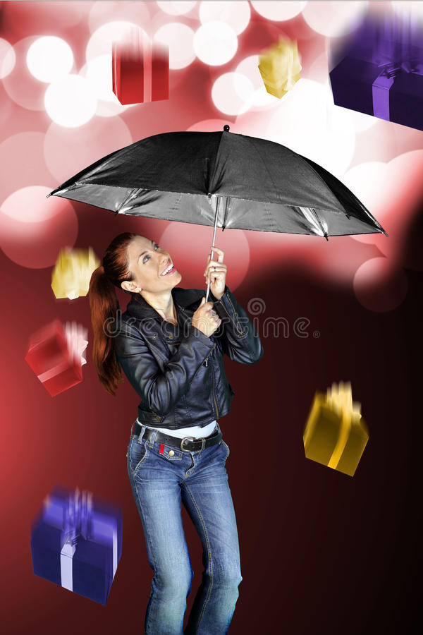 Дождь подарков стоковая фотография