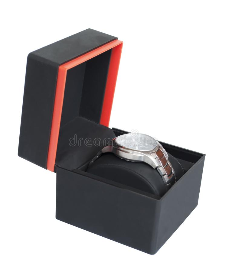 Дозор в коробке изолированной на белизне стоковая фотография rf