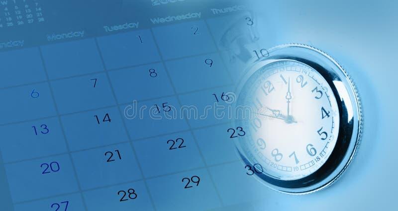 Дозор и календарь стоковое изображение rf