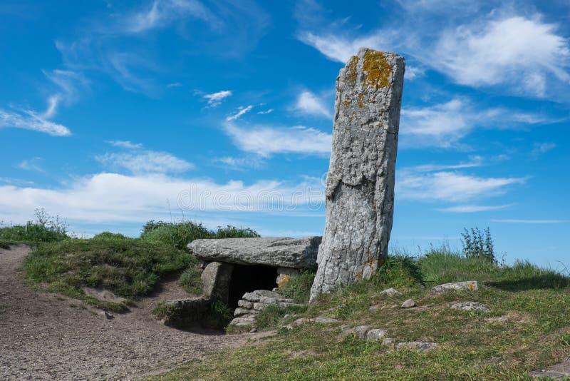 Доисторические мегалит и дольмен Морбиана, Франции стоковое изображение rf