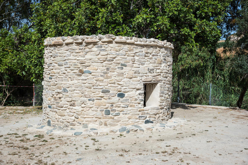 Доисторические места восточное среднеземноморского, Choirokoitia (Kh стоковое фото