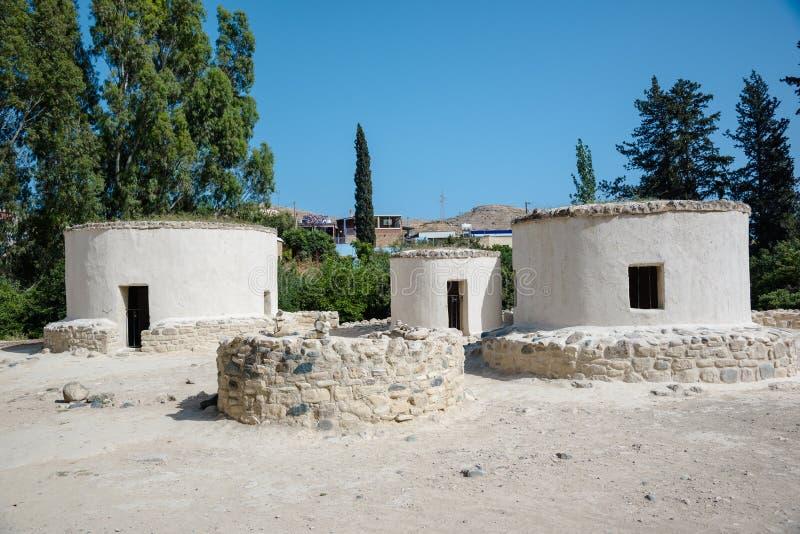 Доисторические места восточное среднеземноморского, Choirokoitia (Kh стоковые фото
