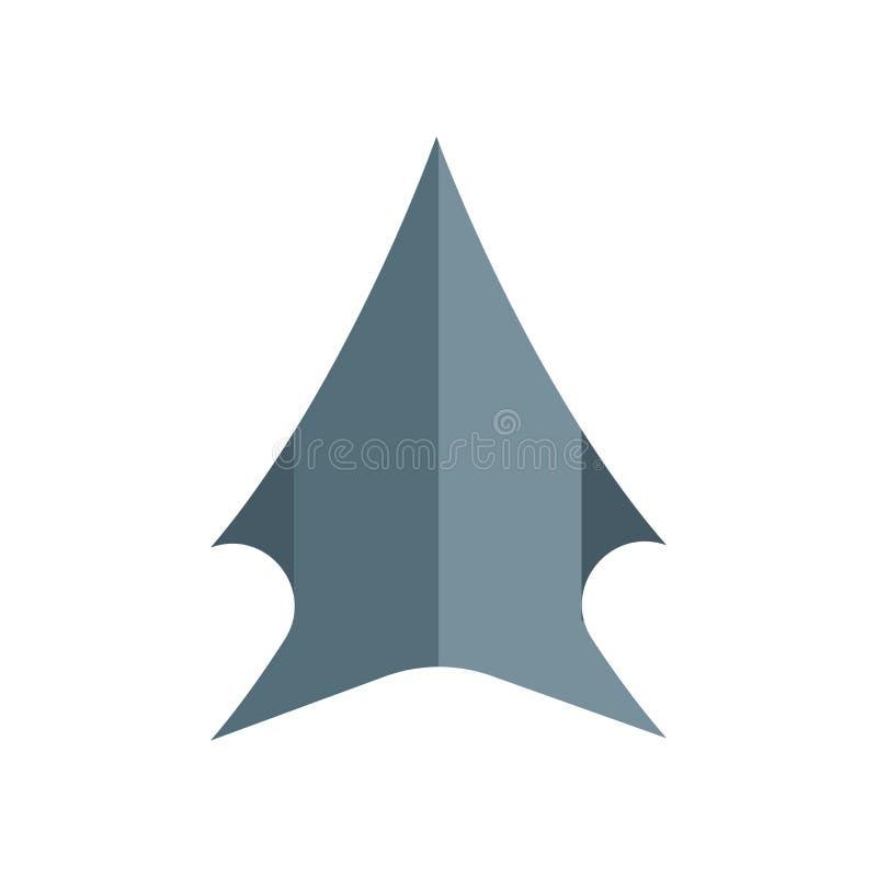 Доисторический вектор значка изолированный на белой предпосылке, доисторическом знаке, символах древней истории иллюстрация штока