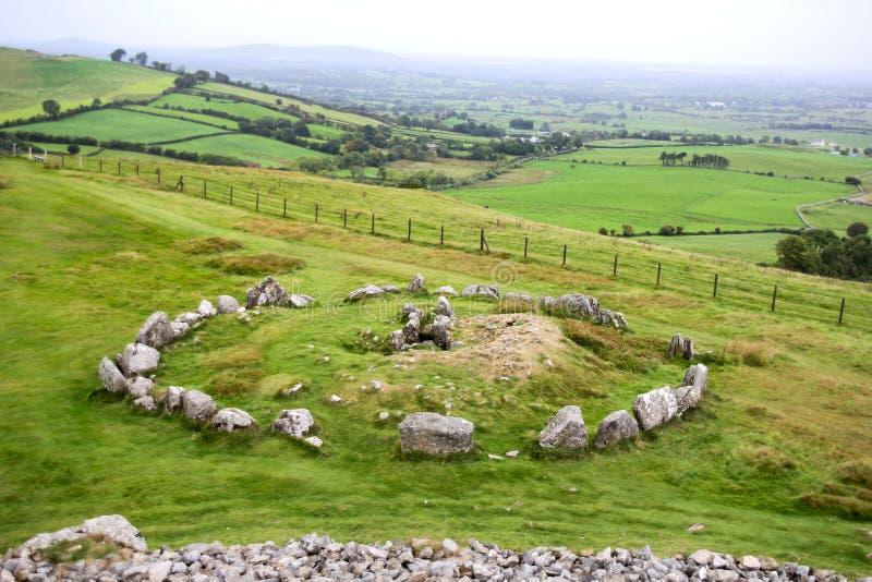 Доисторический комплекс усыпальницы Loughcrew графства Meath, Ирландии стоковое изображение