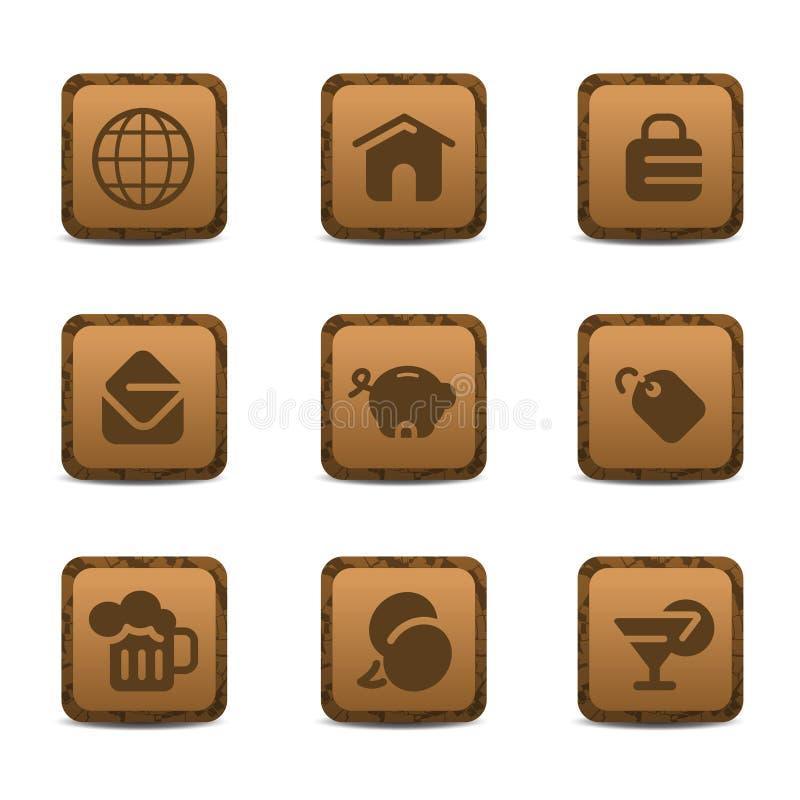 Доисторический комплект значка стоковые изображения rf