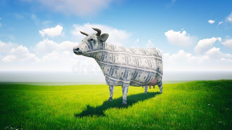 Дойная корова иллюстрация вектора