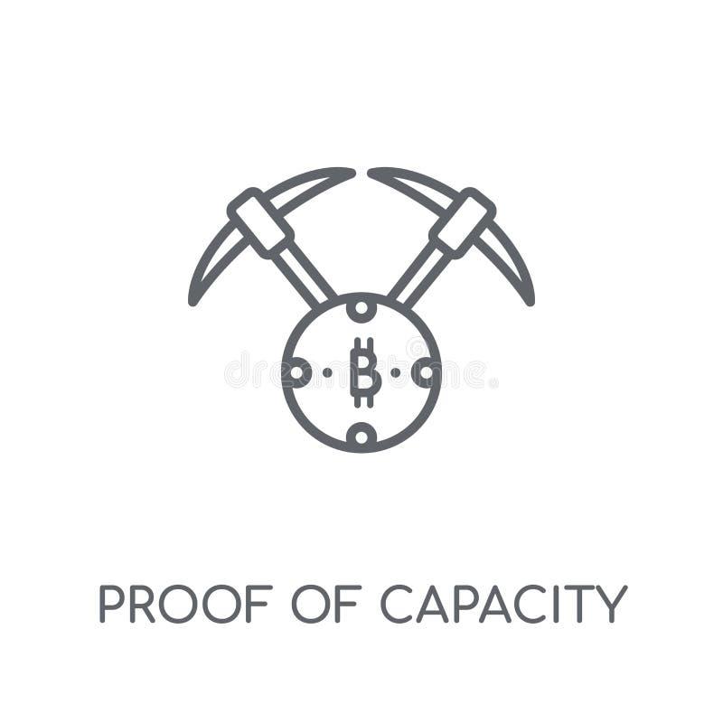 Доказательство значка емкости линейного Современное доказательство плана емкости бесплатная иллюстрация