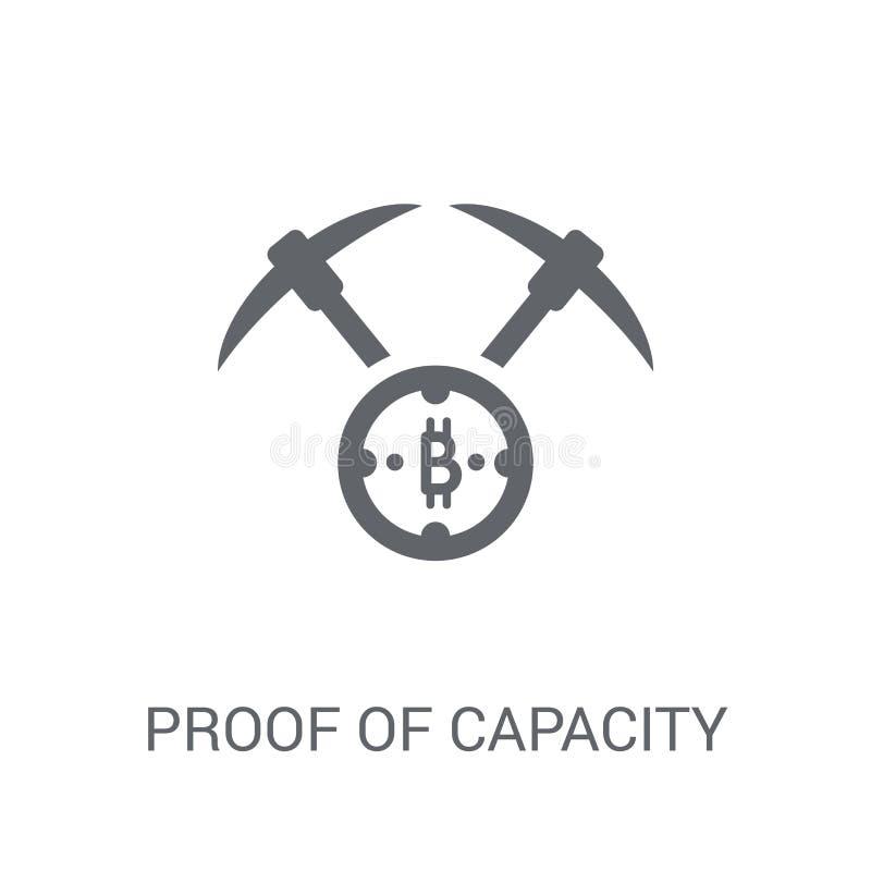 Доказательство значка емкости Ультрамодное доказательство концепции логотипа емкости дальше иллюстрация вектора