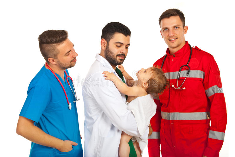 Доктора встречи ребёнка стоковое изображение