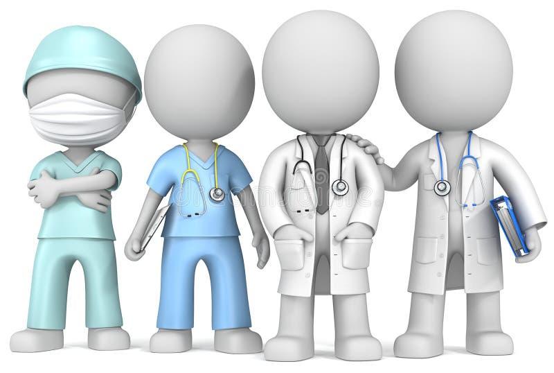 Доктора и медсестра. иллюстрация вектора