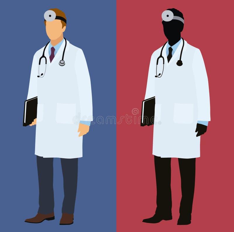 Доктор в пальто лаборатории иллюстрация штока