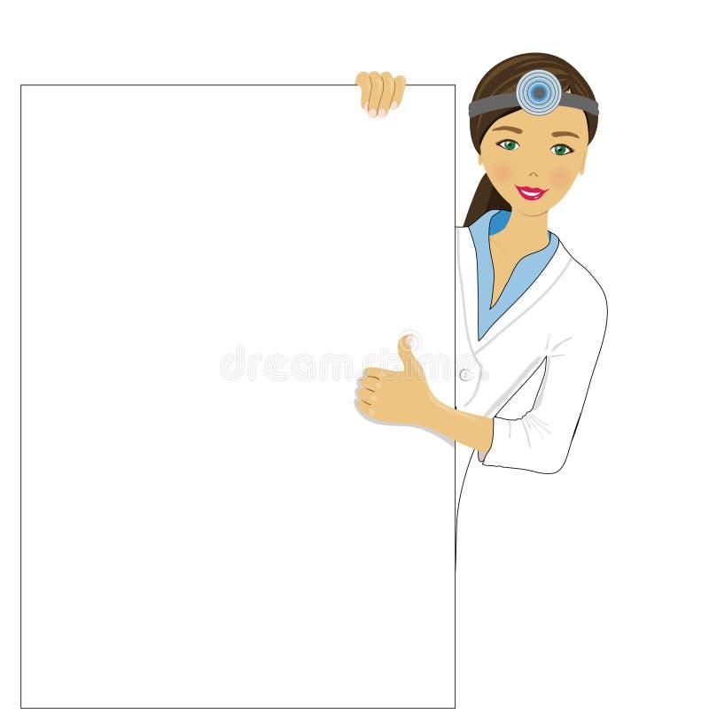 Доктор глаза иллюстрация штока