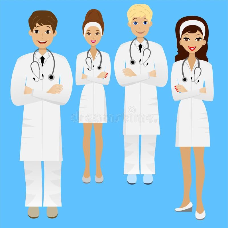 Доктор детенышей группы бесплатная иллюстрация