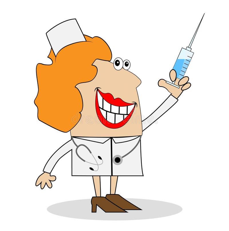 Медсестра с уколом картинка для детей