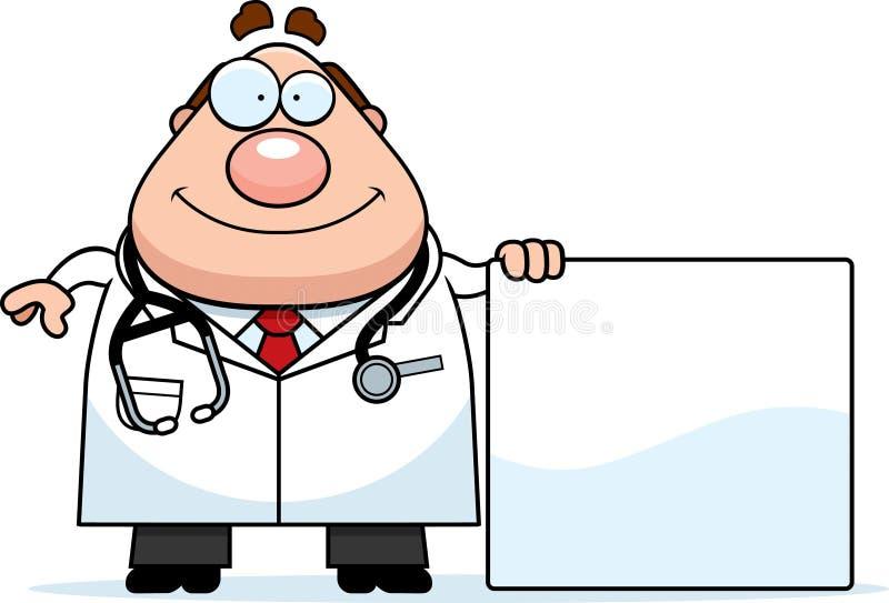Доктор Знак шаржа иллюстрация вектора