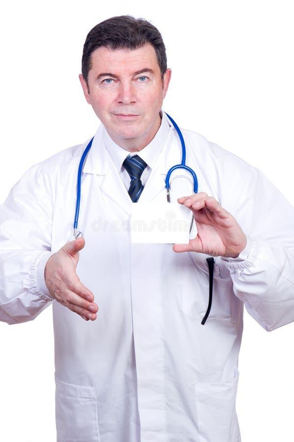 доктор карточки пустой стоковые изображения rf