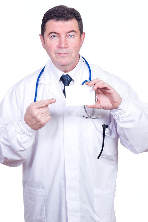 доктор карточки пустой стоковое фото rf