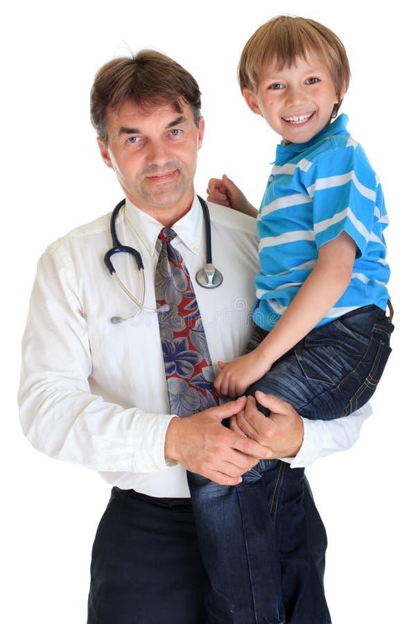 доктор мальчика счастливый стоковое изображение rf