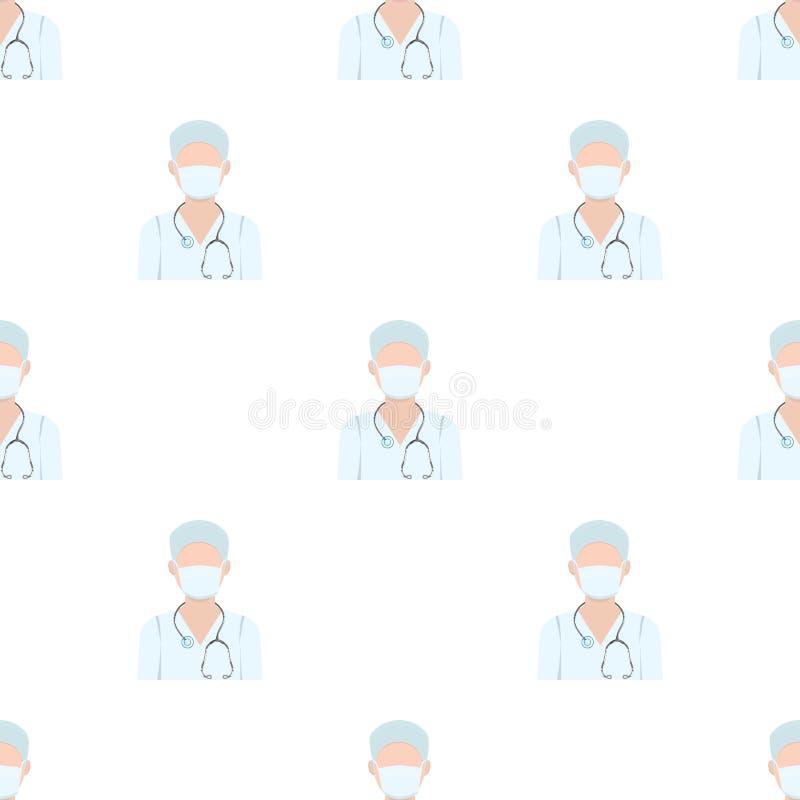 Доктор носит лицевой щиток гермошлема с phonendoscope Медицина в запасе символа вектора иллюстрация вектора