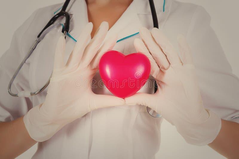 Доктор показывает сердце стоковое фото rf