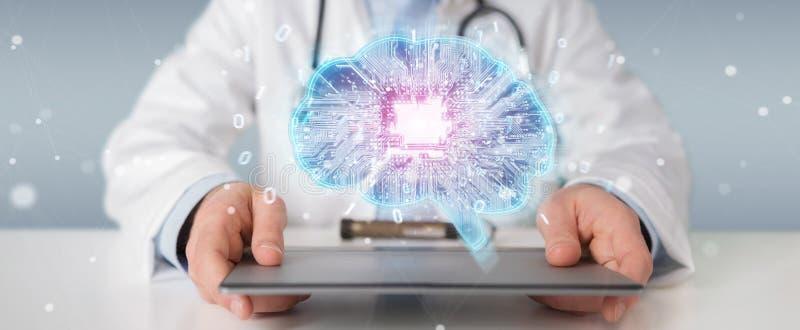 Доктор создавая перевод интерфейса 3D искусственного интеллекта