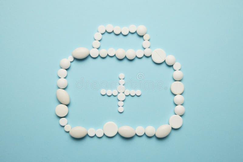 Доктор сумки от набора таблеток emergency стоковое фото rf
