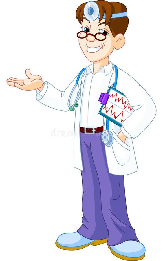 доктор clipboard иллюстрация вектора