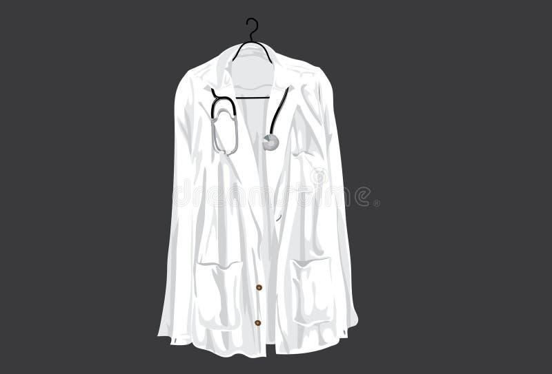 доктор s пальто иллюстрация вектора