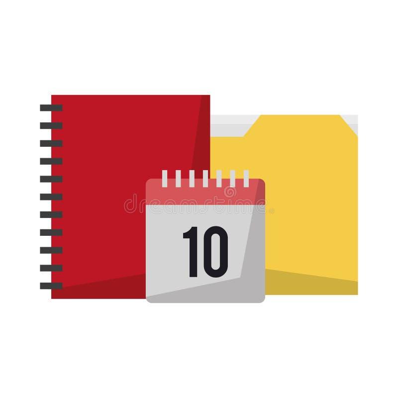 Документы и календарь бесплатная иллюстрация