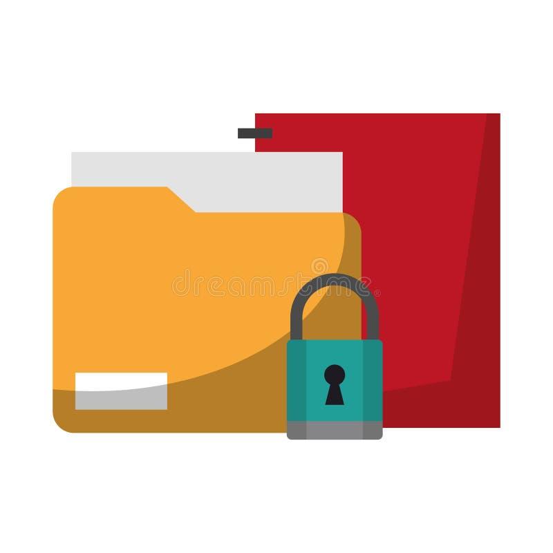 Документы и padlock бесплатная иллюстрация