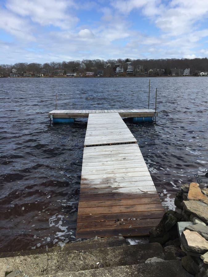 Док берега озера стоковая фотография