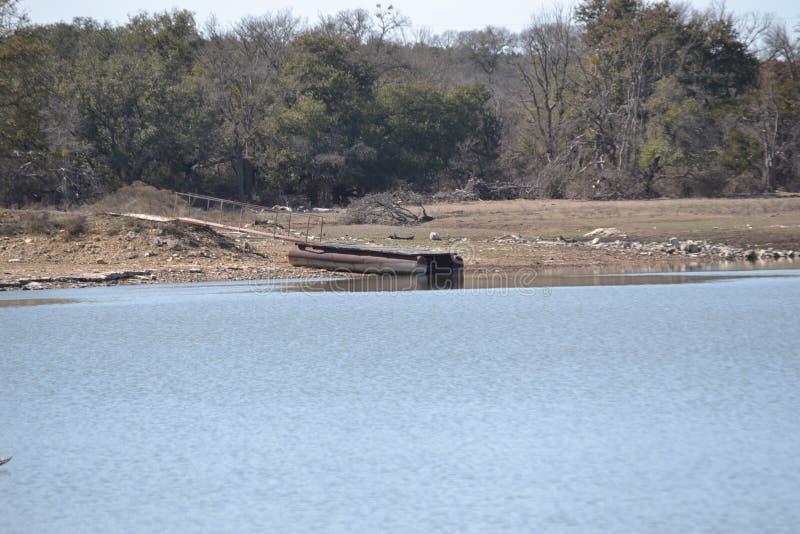 Док на береге озера стоковое фото rf