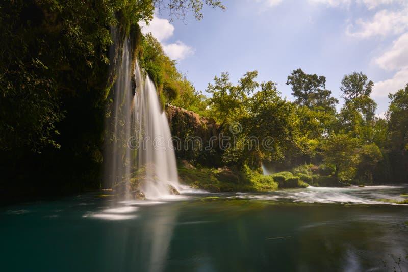 Долгая выдержка водопада Duden стоковые изображения rf