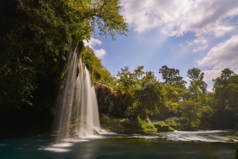 Долгая выдержка водопада Duden стоковое фото rf