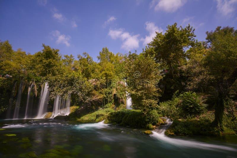 Долгая выдержка водопада Duden стоковое фото