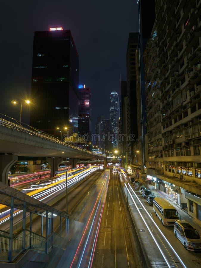 Долгая выдержка Гонконга стоковое фото