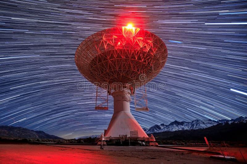 Долгая выдержка изображения следа звезды вечером стоковые фотографии rf